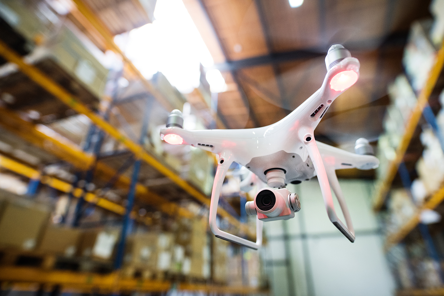 Warehouse Management Using Drones and ERP